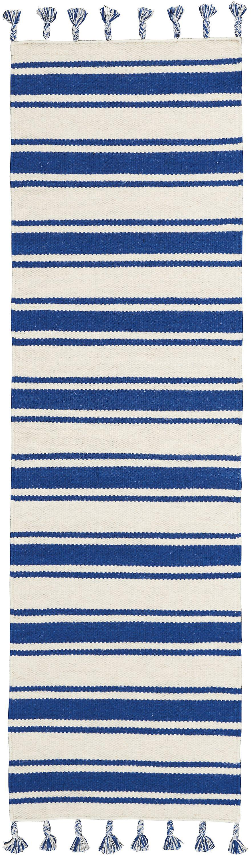 Rio Vista DST01 Ivory Navy  courirner Rugs Modern Rugs