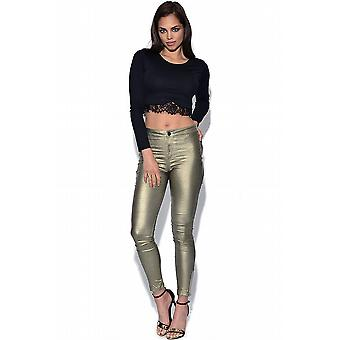 Girls On Film High Waisted Disco Trousers