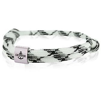 Skipper bracelet surfeur bande noeud maritime bracelet acier inoxydable blanc/gris/noir 7987