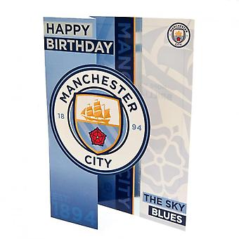 Manchester City F.C. Pop Out Birthday Card