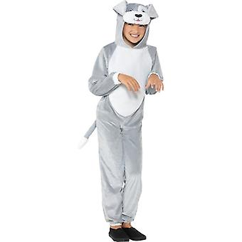 Childrens Grey Dog Fancy Dress Costume