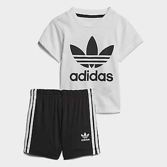 Adidas Originals baby klaverbladknoop T-Shirt en broek Set
