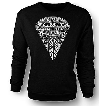 Womens Sweatshirt Aztec Tribal War Design