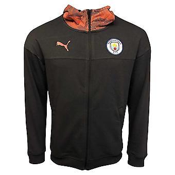 2019-2020 Manchester City Puma Casuals Full Zip Hoody (Asphalt)