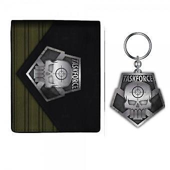 Portemonnee-Suicide Squad-Task Force X/Sleutelhanger set nieuwe gelicentieerd xw4an5ssq