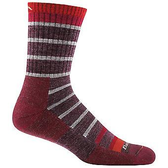 Darn Tough Maroon Mens Via Feratta Micro Crew Cushion Sock