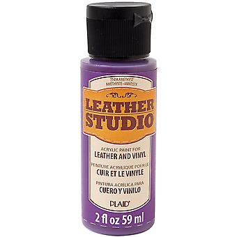 FolkArt Leather Studio Paint 2oz-Amethyst LTHR-71434