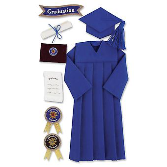 Jolee's Boutique Le Grande Dimensional Graduation Sticker Graduation Cap & Gown Blue Spjblg G 106