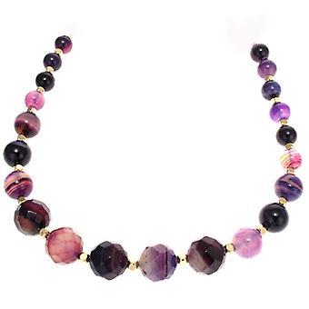 Lola Rose Apollo Necklace Purple Montana Agate
