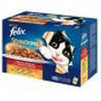 Felix Sensations Multipack 12 x 100 gr Meat Selection (Cats , Cat Food , Wet Food)