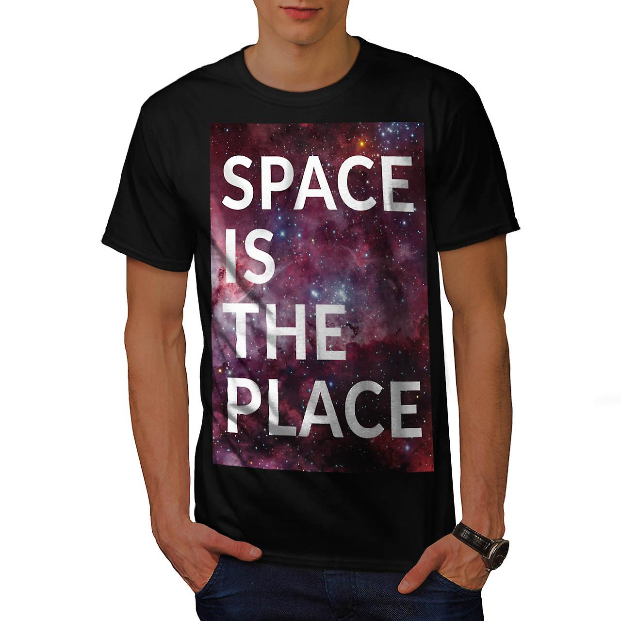 Space Is The Place Fun Big Planet Men Black T-shirt | Wellcoda