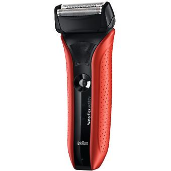 Braun Red shaver Waterflex Wf2S (Man , Shaving , Shavers , Facial)