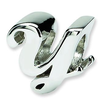 Sterling Silver Reflections Letter Y Script Bead Charm
