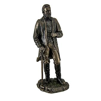 Ulysses S. Grant 18th US President Standing in Uniform with Sword Statue