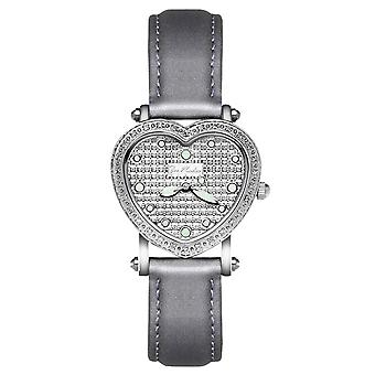 Joe Rodeo diamond ladies watch - MINI HEART silver 0.27 ctw