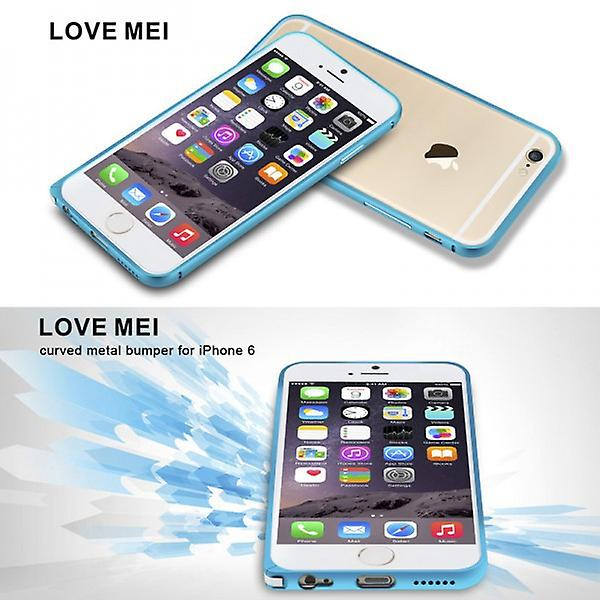 Original LOVE MEI Metall Bumper Blau für Apple iPhone 6 4.7