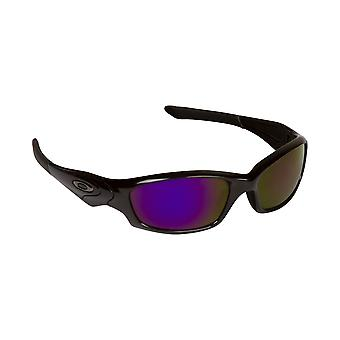 New SEEK Replacement Lenses - Oakley STRAIGHT JACKET Clear Purple Mirror