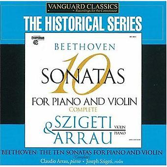 Larsen Beethoven - Beethoven: 10 sonater for klaver og Violin, komplet [CD] USA importerer