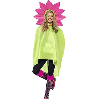 Flower costume party poncho floral poncho raincoat Festival costume