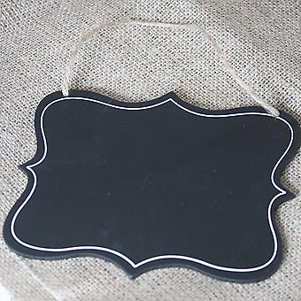 Sass and Belle Fancy Rectangular Hanging Chalk Board Sign