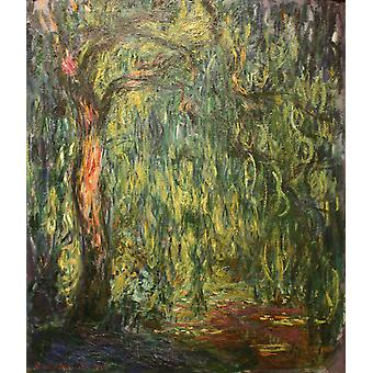Claude Monet - Weeping Willow (1918) Poster Print Giclee