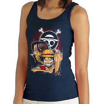 Pirate King Monkey D Ruffy Einteiler Damen Weste