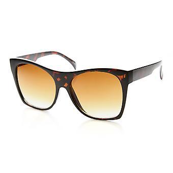 Womens Oversized High Temple Square Frame Cat Eye Sunglasses