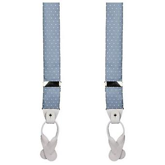 40 Colori Dotted Braces - Light Blue/White