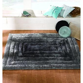 Verge Ridge Black Grey  Rectangle Rugs Plain/Nearly Plain Rugs
