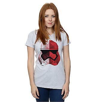 Star Wars Women's The Last Jedi Stormtrooper Red Cubist Helmet T-Shirt