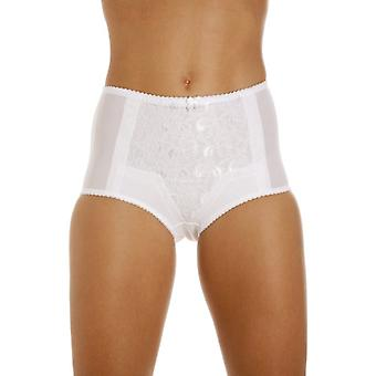 Camille White Control  Lace Shapewear Briefs