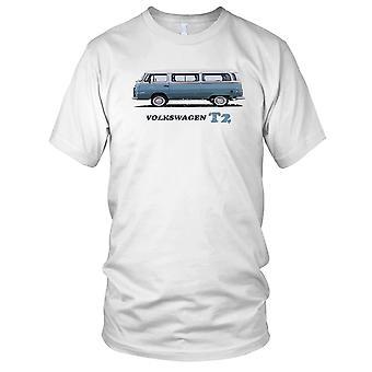 VW T2 Camper Van Classic Car Mens T Shirt