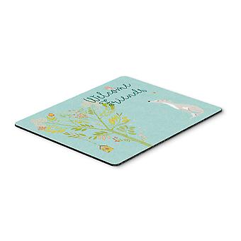 Welcome Friends Italian Greyhound Mouse Pad, Hot Pad or Trivet