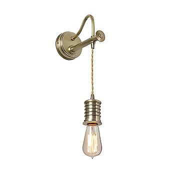 DOUILLE1 AB Douille 1 Light Wall Light - Cord Aged Brass Fitting Only