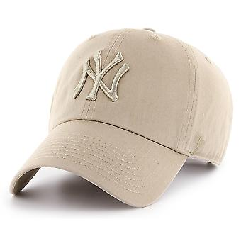 47 Brand MLB NY Yankees Clean Up Cap - Khaki