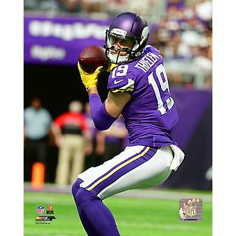 Adam Thielen 2017 Action Photo Print