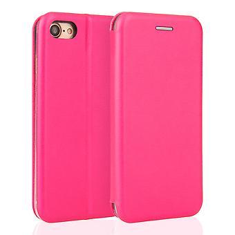 Yousave tilbehør Iphone 7 læder effekt stå tegnebog sag - Pink