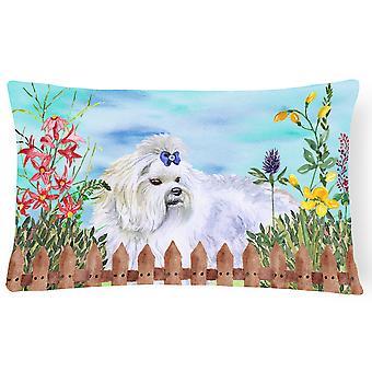 Carolines Treasures  CK1213PW1216 Maltese Spring Canvas Fabric Decorative Pillow