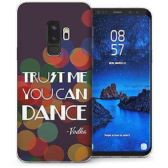 Samsung Galaxy S9 Plus wodka dans grappig citaat TPU Gel geval – paars