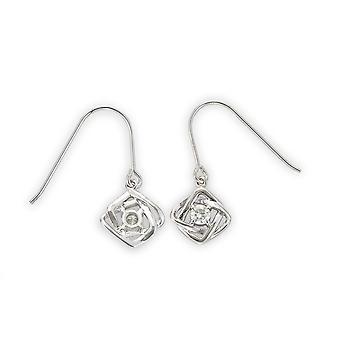 Forever Classic 3.25mm Round Moissanite Dangle Earrings