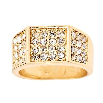 Iced Out Bling Hip Hop Designer Ring - EDGY CZ gold