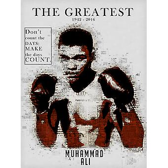 Muhammad Ali Poster Don't Count the Days Make the Days Count Art Print (18x24)