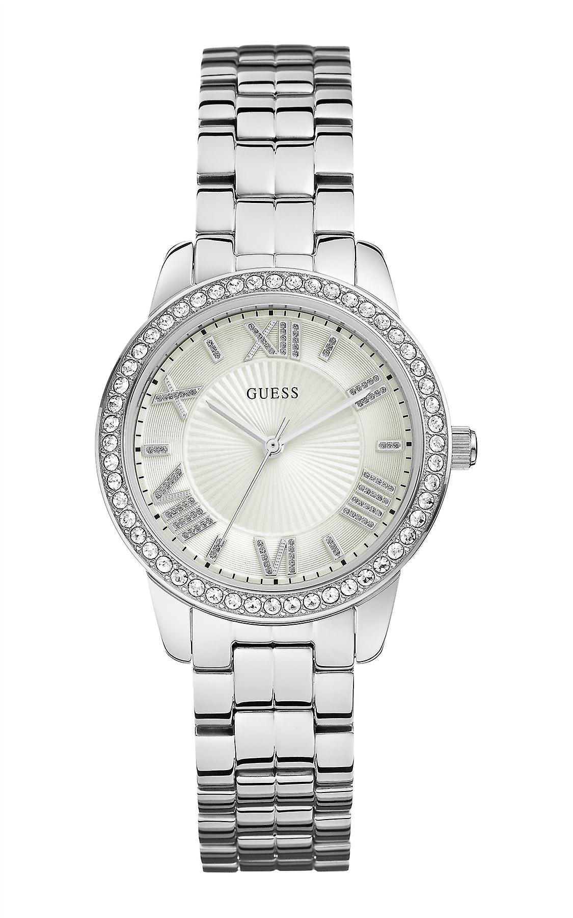 Guess Ladies Watch 'Mini Allure' Silver Tone Stainless Steel Strap W0444L1