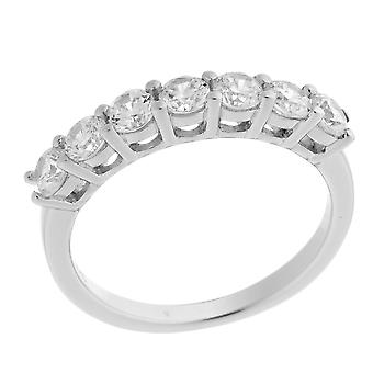 Orphelia Silver 925 Ring  Zirconium Half Pave  ZR-7030