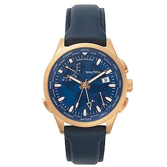 Nautica mens watch NAPSHG002 wristwatch leather