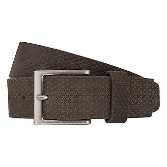 BALDESSARINI correa de cuero cinturones cinturones cuero gris hombre 6490