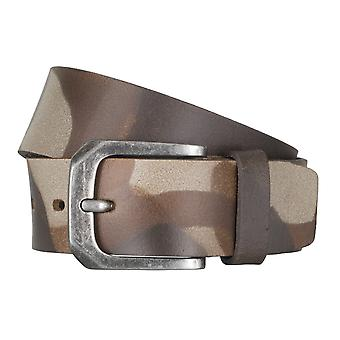 LLOYD Men's belt belts men's belts leather belt camouflage Brown 6596