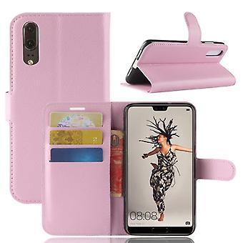 Pocket tegnebog premium Pink for Huawei P20 beskyttelse ærme tilfælde dække pose nye tilbehør