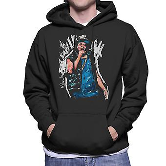 Sidney Maurer Original Portrait Of Jay Z Gilet Men's Hooded Sweatshirt