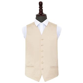 Champagne Plain Satin Wedding Waistcoat